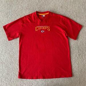 NFL Kansas City Chiefs football Large red shirt
